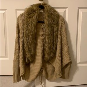 Taylor & Sage cardigan with fur